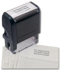 Self Inking Endorsement Stamp