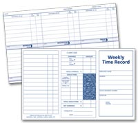 Weekly Employee Time Record Cards
