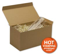 Boxes, Kraft One-Piece Gift Boxes, 12 x 6 x 6