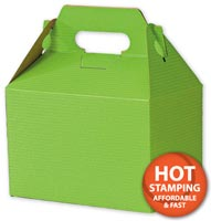 Boxes, Apple Green Varnish-Striped Gable Boxes, 8 x 4 7/8 x 5 1/4