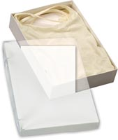 Boxes, Clear Top Boxes w/ White Base, 10 x 7 x 2