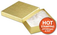 Boxes, Gold Linen Jewellery Boxes, 3 1/2 x 3 1/2 x 1