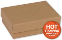 Natural Kraft Jewellery Boxes, 3 1/16 x 2 1/8 x 1