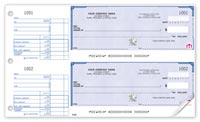 Manual Business Cheques, High Security 2-To-A-Page Cheques