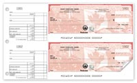 Manual Business Cheques, High Security Canadian Pride 2-To-A-Page Cheques